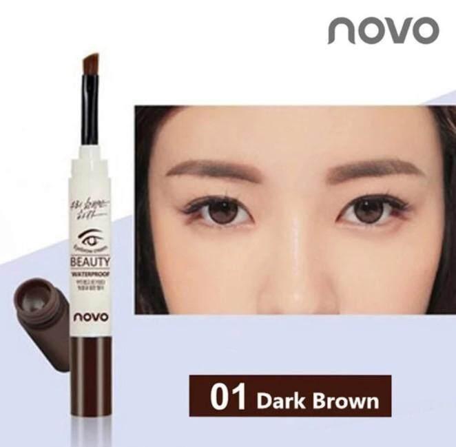 เจลเขียนคิ้ว Novo Beauty Eyebrow Gel 3g โนโว กันน้ำ 100% แห้งเร็ว ติดทน ดินสอเขียนคิ้ว กันเหงื่อ **รบกวนดูตัวเลือกสีให้ดีก่อนสั่งนะคะ** By Belive Shop.