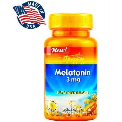 ขาย Thompson Melatonin 3 Mg X 30 เม็ด เมลาโทนิน ผสม วิตามิน B2 และ B6 กรุงเทพมหานคร