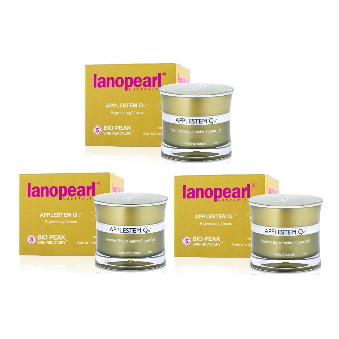 ขาย Lanopearl Applestem Q10 Rejuvenating Cream 50 Ml ครีมแอปเปิ้ล เสมือนเลเซอร์ผิว 3 กระปุก ใน ไทย
