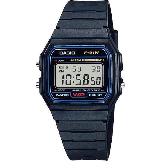 Casio Digital นาฬิกาข้อมือ สายเรซิน รุ่น F-91W ของแท้ประกันศูนย์