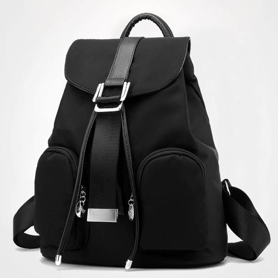 ราคา Porra Bag กระเป๋าสะพายหลัง ผู้หญิง กระเป๋าเป้เกาหลี กระเป๋าแฟชั่น รุ่น Pp 114 สีดำ ใหม่