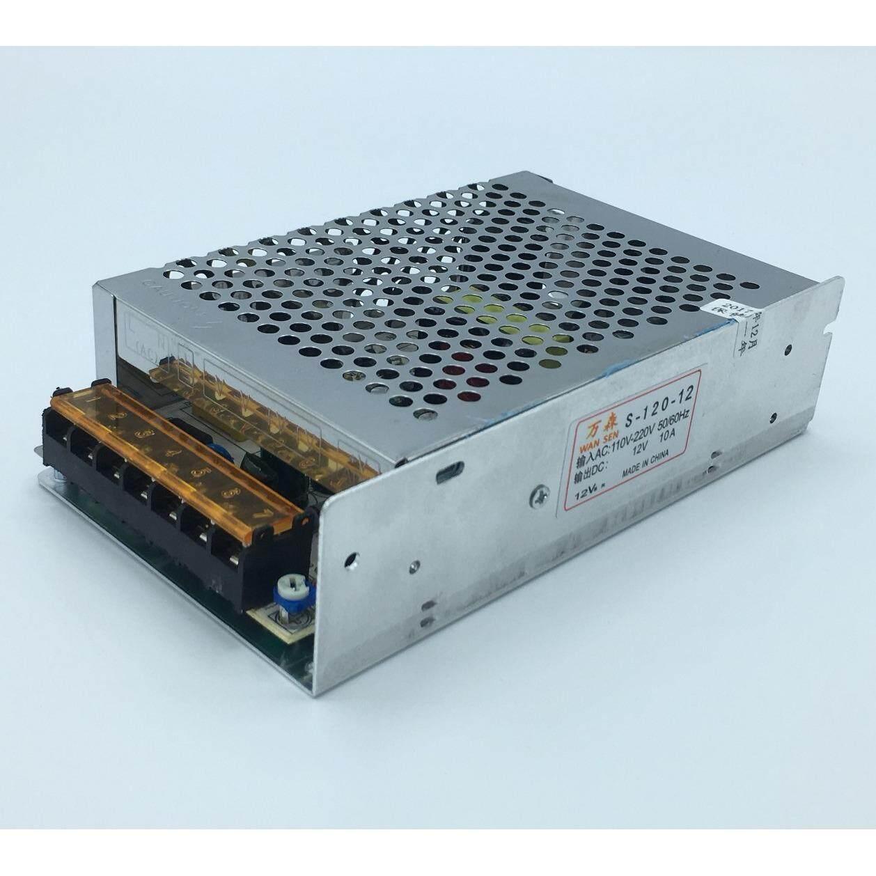 ขาย หม้อแปลงไฟฟ้าสวิทชิ่ง 220Vac 12Vdc 10A 120W 7 ช่องPower Supply Switching Oem Taiwan ถูก