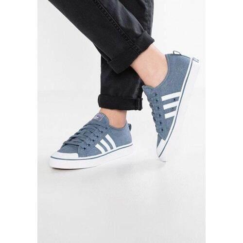 ลดสุดๆ ADIDAS รองเท้าผ้าใบ  อาดิดาส  Nizza (White/Blue ลุค Minimal) ++ของแท้100% พร้อมส่ง ส่งด่วน Kerry++
