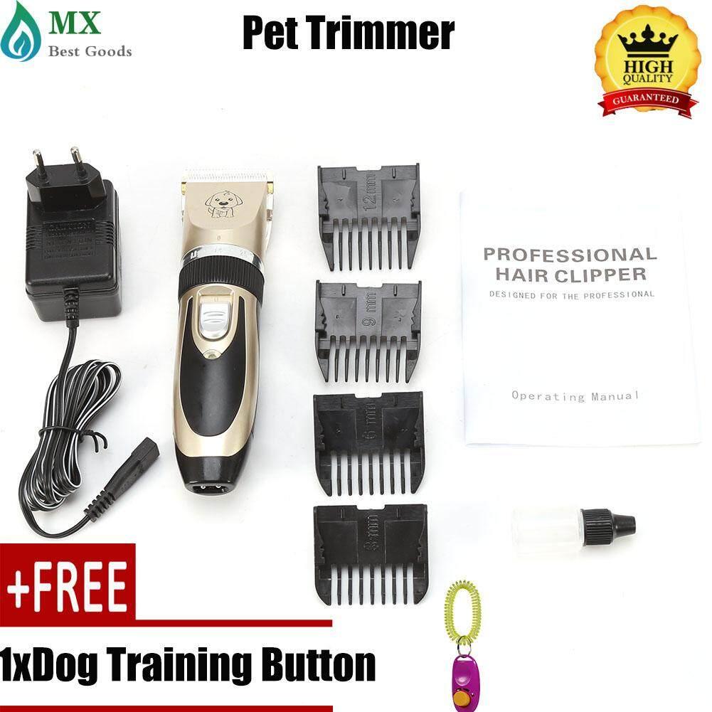 [ซื้อ 1 แถม 1 ฟรี] Professional Pet บัตตาเลี่ยนโกนหนวด Grooming ชุดเครื่องมือชาร์จได้แมวขนสุนัขชุดโกนขน Eu Plug By Minxin.