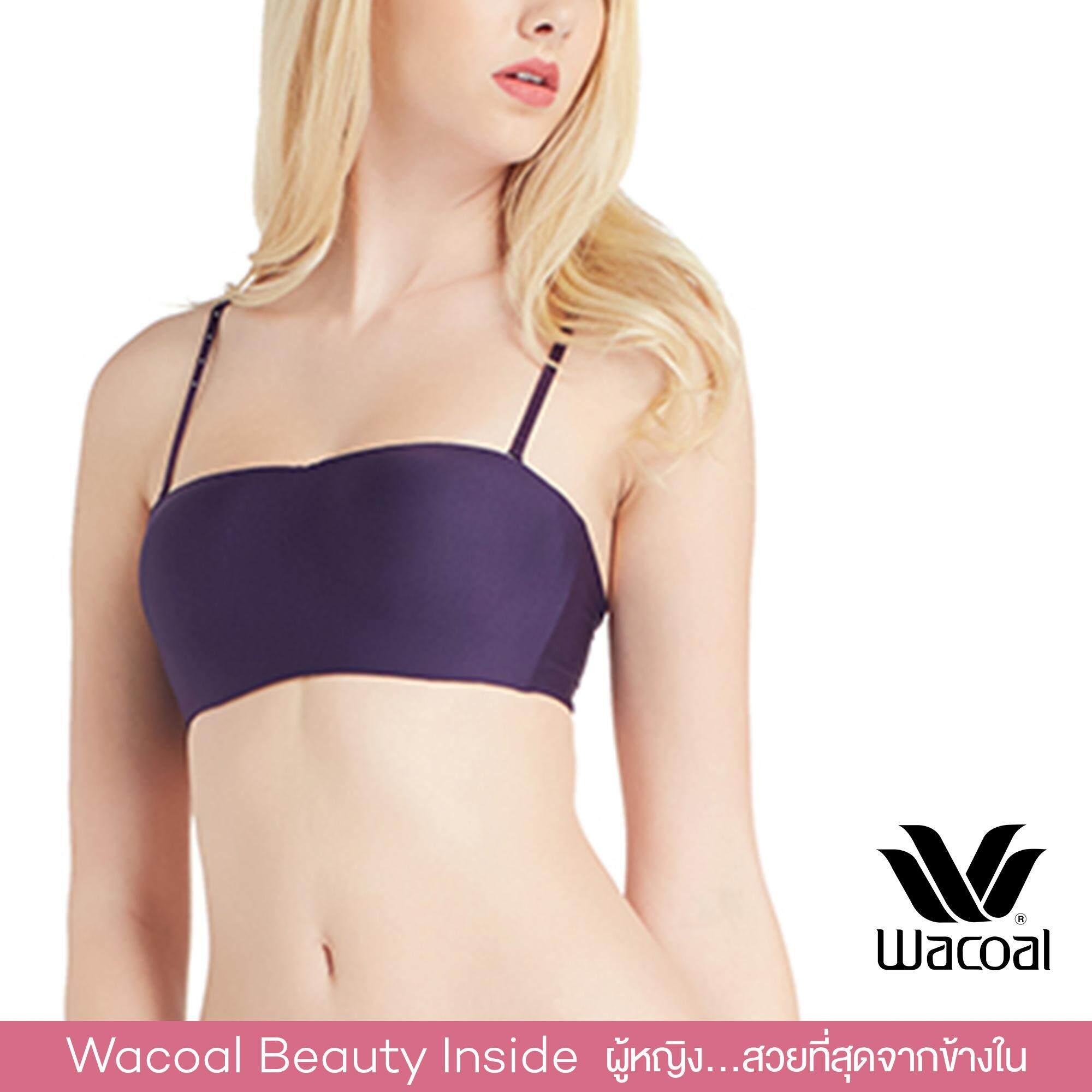 Wacoal Best Seller บราเกาะอก 1/2 cup (สีม่วงแดง/VIOLET) -WB3B53VI