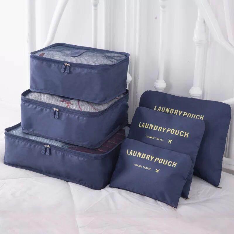 กระเป๋า กระเป๋าจัดระเบียบเสื้อผ้าสำหรับการเดินทาง Set 6 ใบ รุ่ง(ato-209) By Ato Shop.