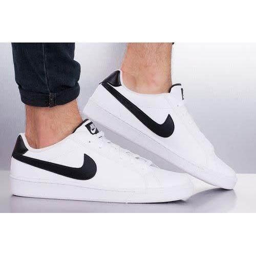ลดสุดๆ Nike รองเท้า ผ้าใบ ผู้ชาย ลำลอง ไนกี้ Court Majestic leather White/Black รุ่นยอดนิยม (หนังแท้) นุ่ม เบา สบายเท้า ของแท้ 100% การันตี ส่งไวด้วย kerry!!!