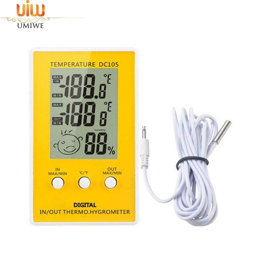 Umiwe ดิจิตอลอินดอร์เอาท์ดอร์เครื่องวัดอุณหภูมิน้อยสุดมากสุดมูลค่าการบันทึก, ความชื้นในร่มเครื่องวัดความชื้นด้วย - Intl By Umiwe.