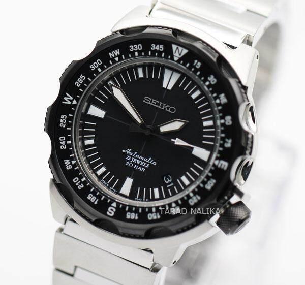 ยี่ห้อนี้ดีไหม  ชัยนาท Seiko Land Monster นาฬิกาข้อมือผู้ชาย สายสเตนเลส รุ่น SARB047 - Silver/Black