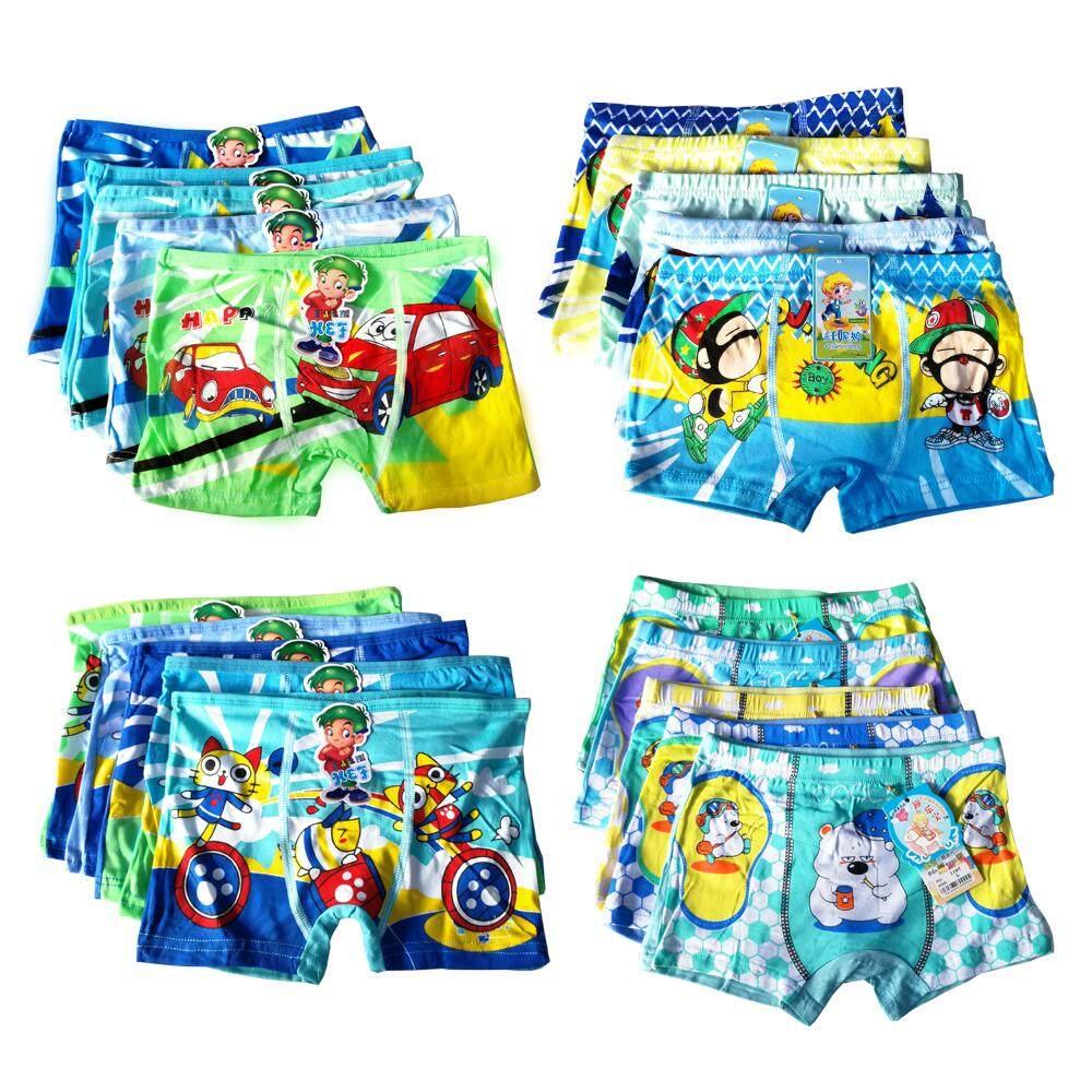 กางเกงในเด็กชาย แบบขาสั้น แพ็ค10ตัว คละลายน่ารัก ครบทุกไซซ์