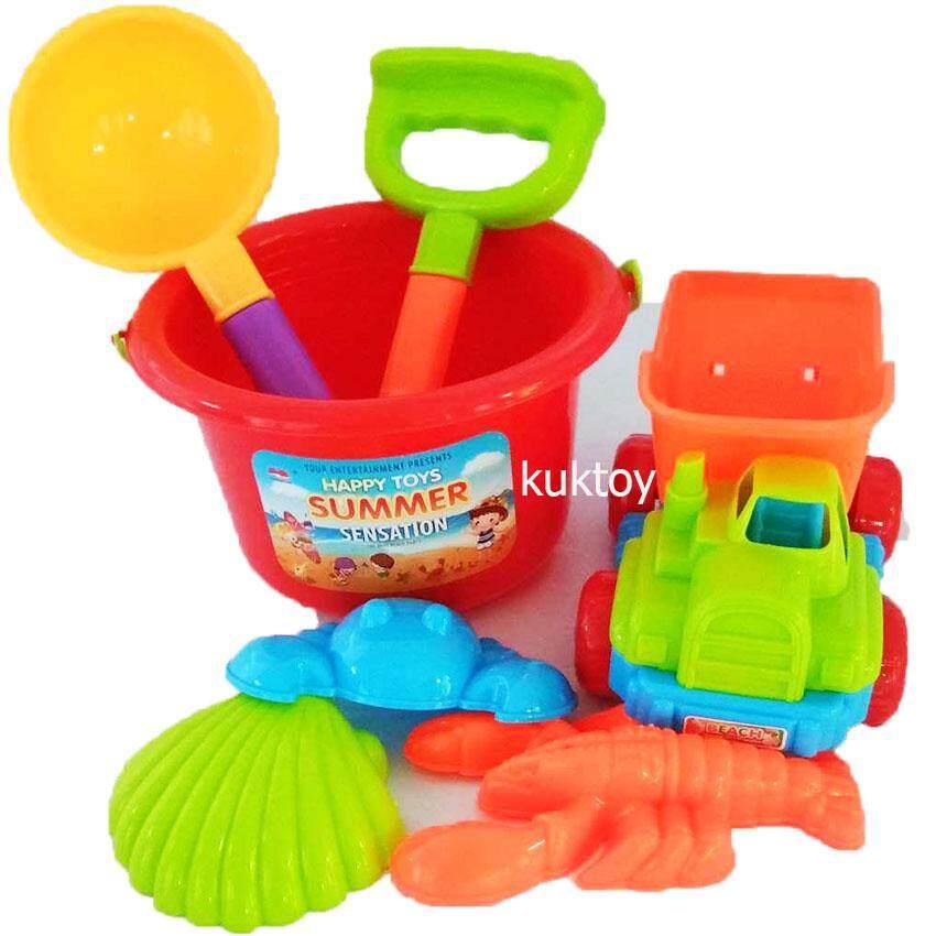 Patipan Toy เล่นทราย ตักทราย กระป๋องซัมเมอร์พร้อมชุดเล่นทราย A11 หลายสี