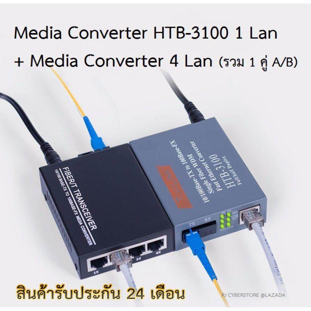 ขาย Netlink Media Converter Htb 3100 มีเดีย คอนเวอร์เตอร์ 4 Ports Lan A B รับประกัน 24 เดือน Fiber Optic 25Km Single Mode Single Fiber Wdm Ftth 1 คู่ ของแท้100 กรุงเทพมหานคร ถูก