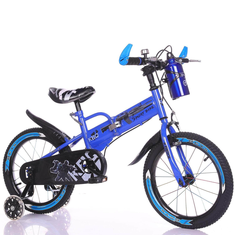 จักรยานเสือภูเขา พ้บได้ มีกระติกน้ำ 16นิ้ว สีฟ้า Bule  ( Folding Mountain Bike).
