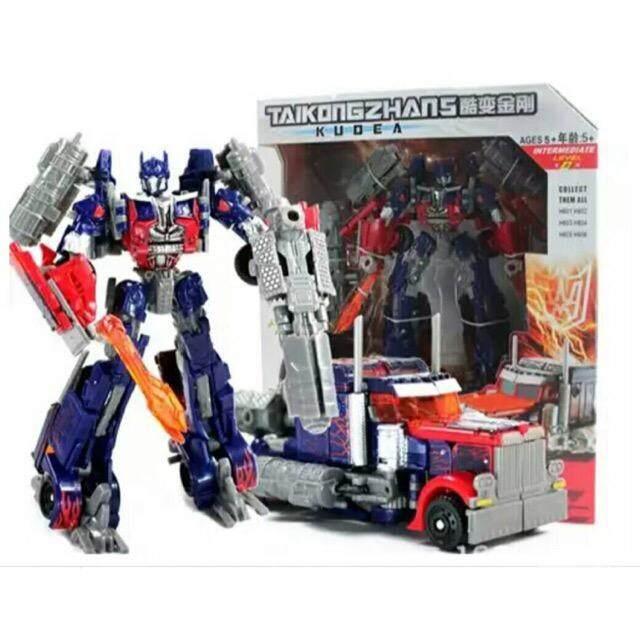 หุ่นยนต์ แปลงร่าง เป็นรถ ทรานฟอเมอร์ ออฟติมัส Optimus รถแปลงร่างเป็นหุ่นยนต์.