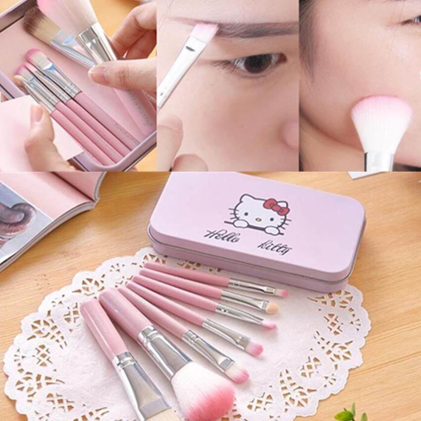 แปรงแต่งหน้า Hello Kitty Makeup Brush 7ชิ้น ( คละสี ) By Sabaidee.