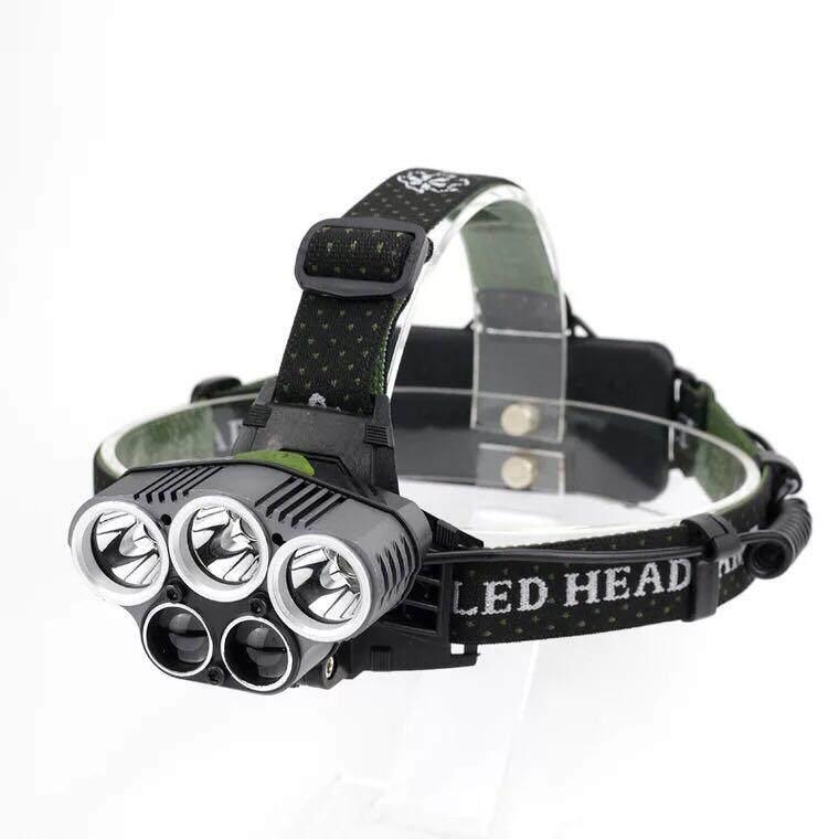 A98 10000lm Led 3*t6+2*xpe Waterproof Headlamp ไฟฉายคาดศีรษะ 5 หัวไฟ By A-Night.