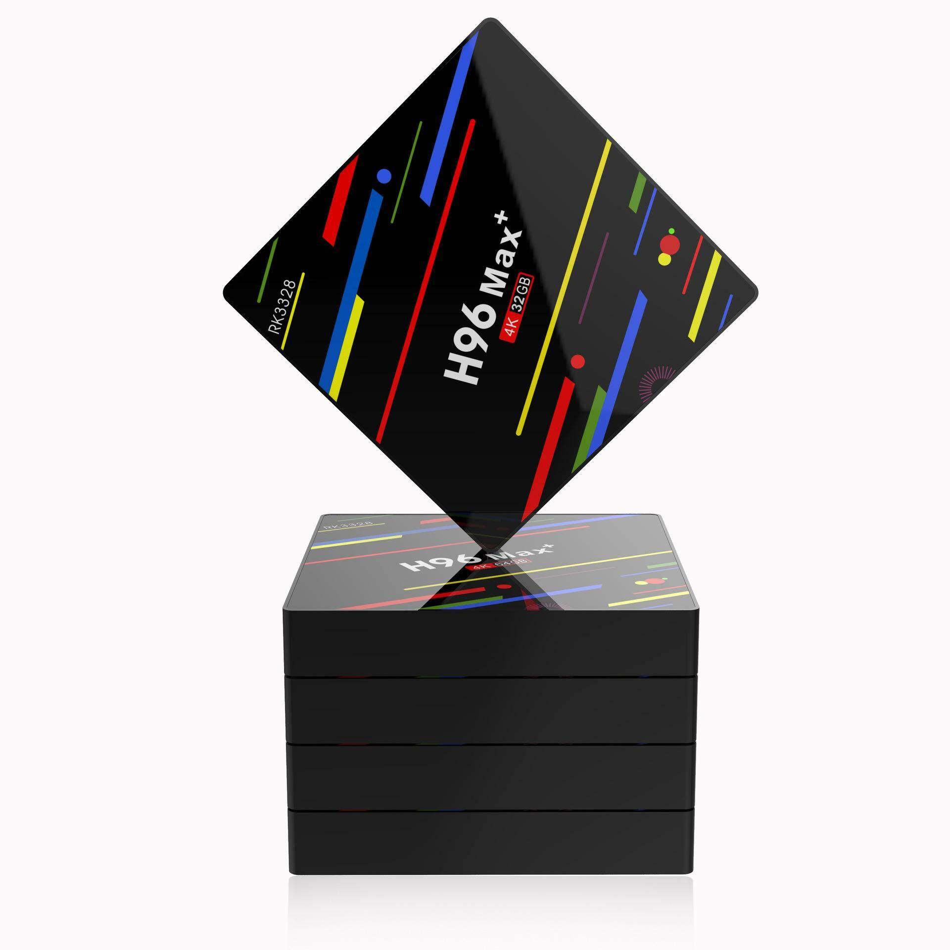 อุทัยธานี สินค้าใหม่ H96MAX+ Android 8.1 TV box  4 กรัม 64 กิกะไบต์กล่องทีวี H96 Max + Android 8.1 สมาร์ททีวีกล่อง RK3328 Quad - Core 64bit Cortex-A53 Penta - Core Mali - 450 ถึง 750 เมกะเฮิร์ตซ์ + Full HD/H.265/Dual WiFi Smart Set Top