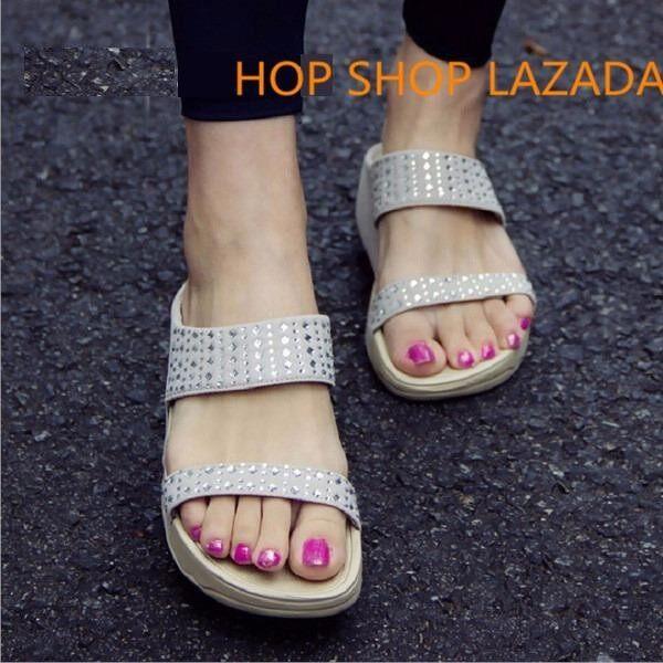 ราคา รองเท้าหญิง รองเท้าแตะหญิง เพื่อสุขภาพ เบา นุ่ม ใส่สบาย เพื่อสุขภาพสไตล์ยุโรป Hop