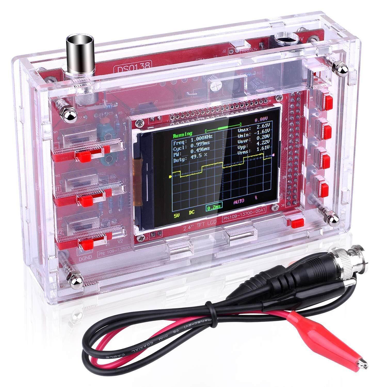 Dso138 Digital Oscilloscope Kit Open Source 2.4 ฟรีกล่องอคลิลิคใส By Elec.