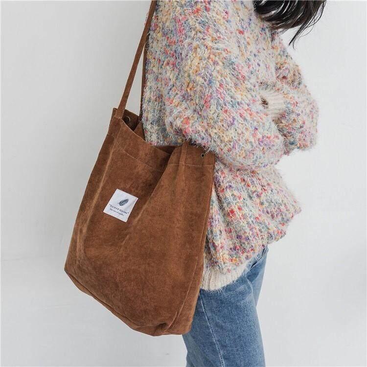 กระเป๋าสะพายพาดลำตัว นักเรียน ผู้หญิง วัยรุ่น อ่างทอง Zigzagg กระเป๋าสะพาย ผ้าเกาหลีน่ารัก กระเป๋าผ้าลูกฟูกสะพายไหล่ กระเป๋าแฟชั่น กระเป๋าผู้หญิง