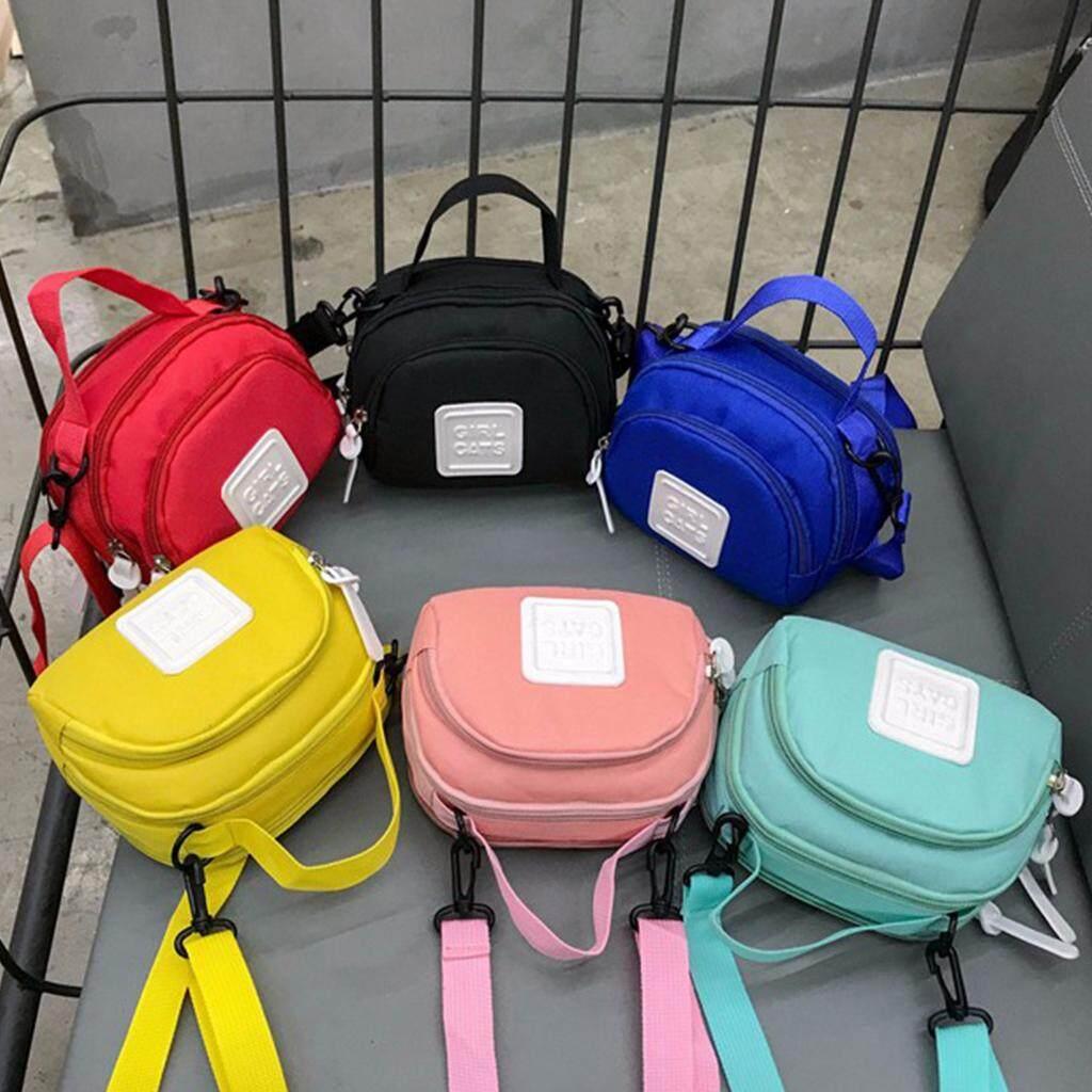 กระเป๋าเป้ นักเรียน ผู้หญิง วัยรุ่น สมุทรสงคราม กระเป๋าสะพายข้างGIRL CATS สีสันสดใส B740