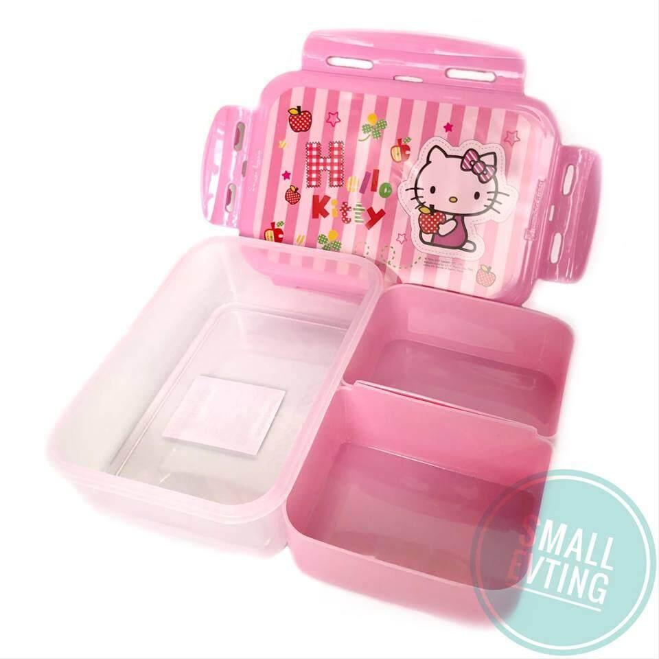 Small Evting กล่องใส่อาหาร กล่องข้าว Super Lock 6115-2 ลายคิตตี้ hello kittyจำนวน 1ใบ กล่องอาหาร กล่องใส่ข้าว
