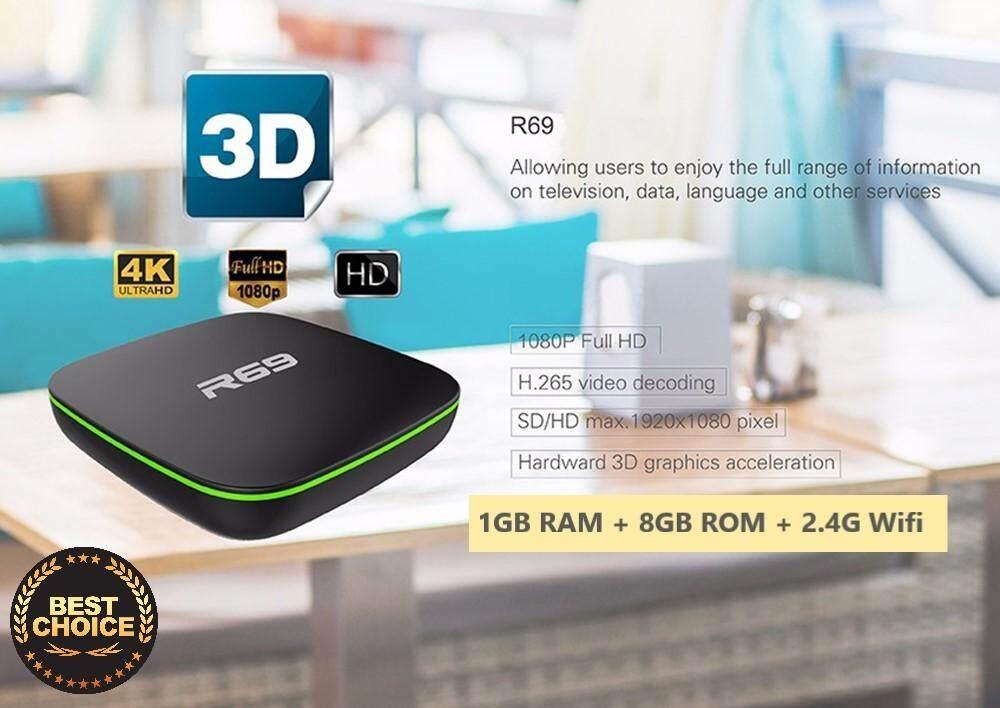 การใช้งาน  สุพรรณบุรี กล่องทีวีแอนดรอยด์ R69 Android 6.0 Smart TV Box (1G + 8G  4K WiFi Quad Core Media Player Android Box)