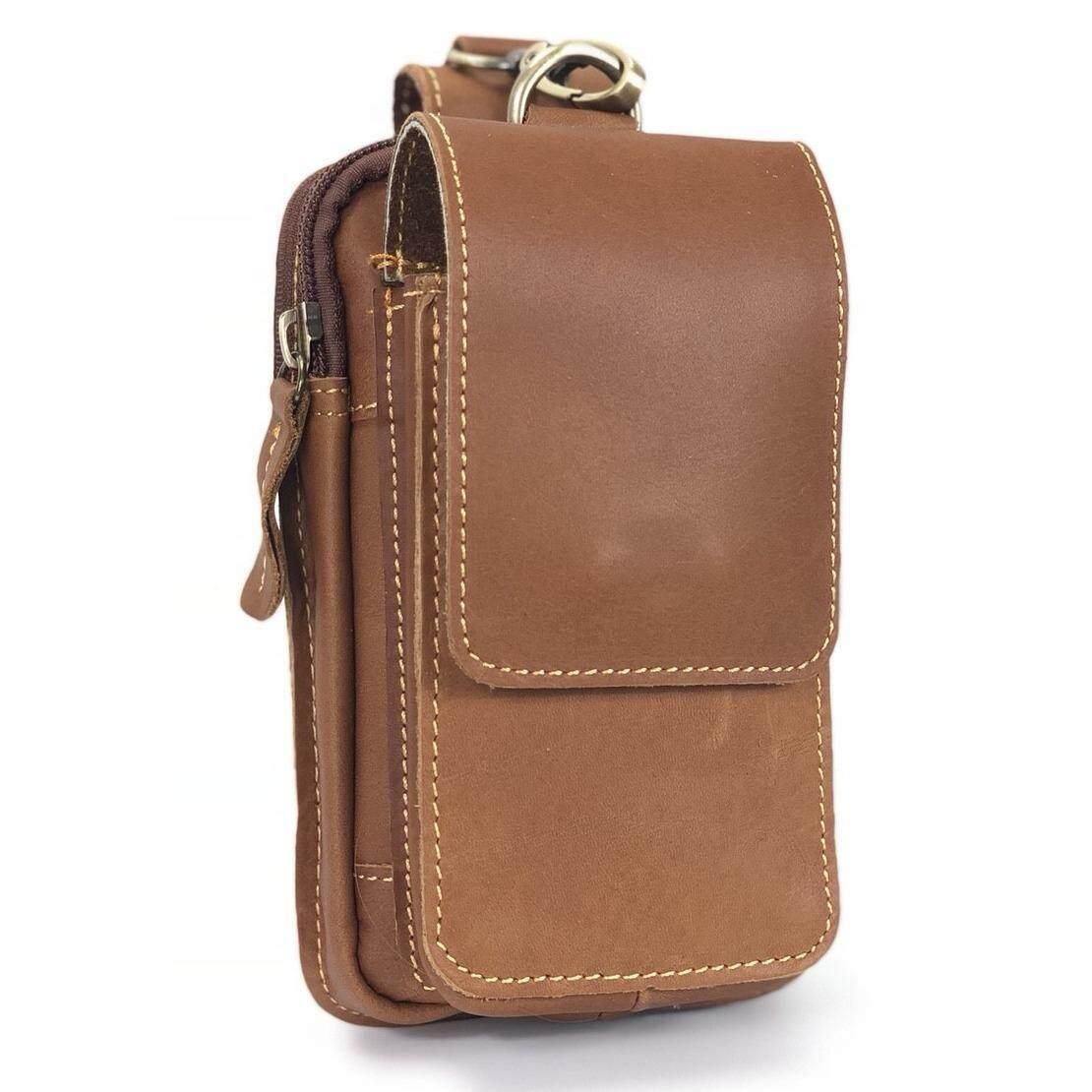 ขาย Chinatown Leatherกระเป๋าหนังแท้ร้อยเข็มขัดใส่มือถือตะขอบนIphone6 7พลัส Chinatown Leather