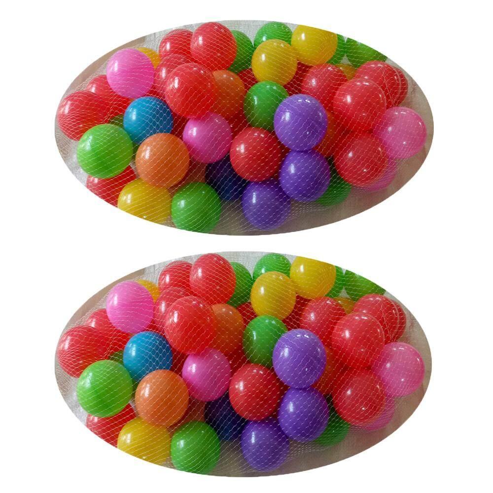 Rctoystory ลูกบอล ลูกบอลพลาสติก หลากสี เกรด A ไม่ยุบ ลูกใหญ่ 3 นิ้ว 100 ลูก By Rctoystory.