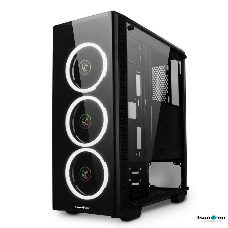 Tsunami Unlimited 3d+ Double-Ring Led Fan Super Atx Gaming Case By Jura.