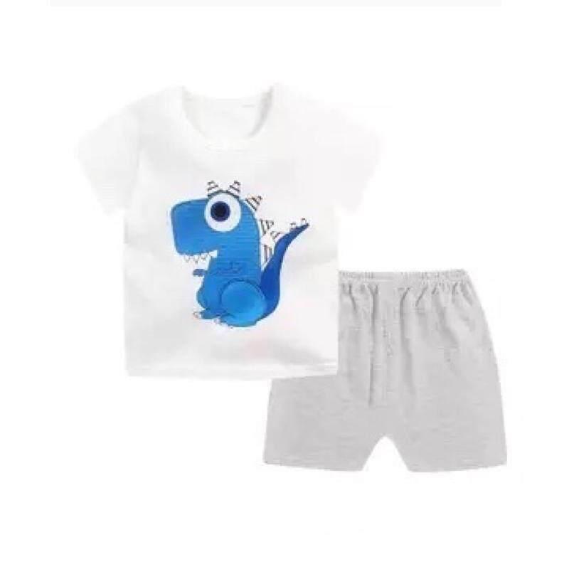 ❤️sale! Baby ชุดนอน เซต 2 ชิ้น เสื้อ+กางเกงขาสั้น ใส่สบายเนื้อผ้า Cotton 9เดือน- 4ปี.