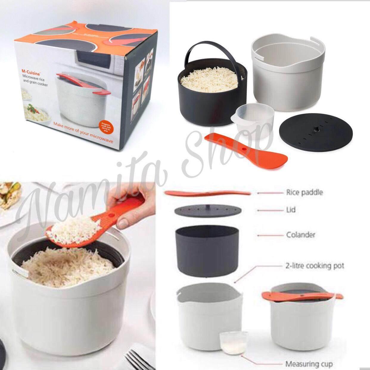 M-Cuisine Rice Cooker Microwave หม้อหุงข้าวสำหรับเข้าไมโครเวฟ หุงข้าวด้วยไมโครเวฟ (จัดส่งฟรี!!!)