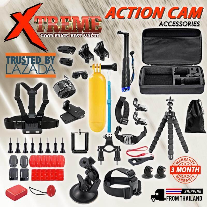 ชุดอุปกรณ์เสริมสำหรับล้อง สุดคุ้ม 50 ชิ้น Action Camera Accessories Kit / Gopro Hero 6/5/4/3/sj4000/sj5000/sj6000 By Xtreme Mega Sale.