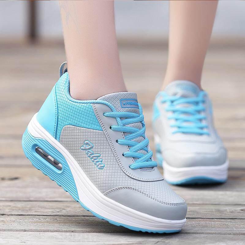 2020 ฤดูใบไม้ผลิและฤดูใบไม้ร่วงใหม่พื้นหนารองเท้ากีฬาพื้นรองกันลื่นหญิงรองเท้า Shake พื้นผิวหนังเข้าได้หลายชุดกันน้ำรองเท้าเดินทาง.