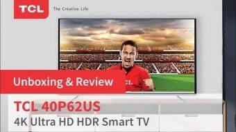 TCL 4K สมาร์ททีวี40 นิ้ว  รุ่น 40P62US  ประกันศูนย์ไทย