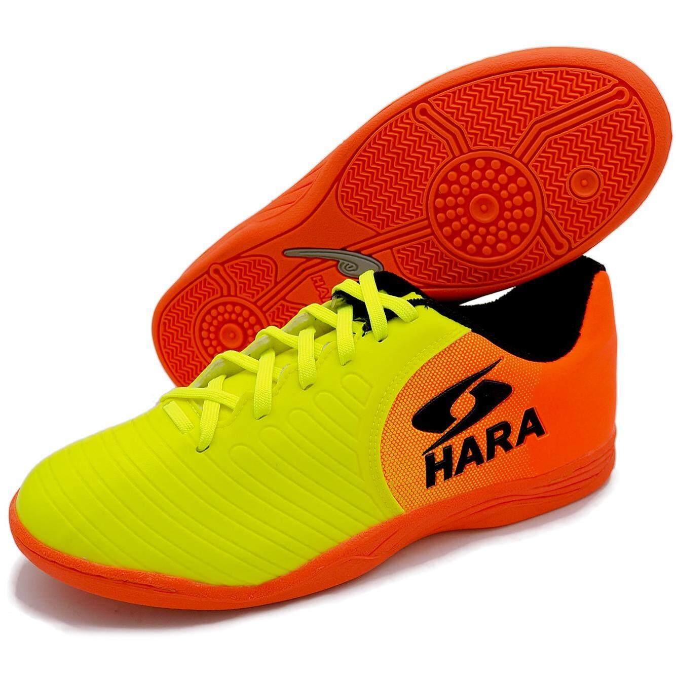 3632248de8 HARA Sports รองเท้าฟุตซอล รุ่น FS93 สีเขียวตอง-ส้ม