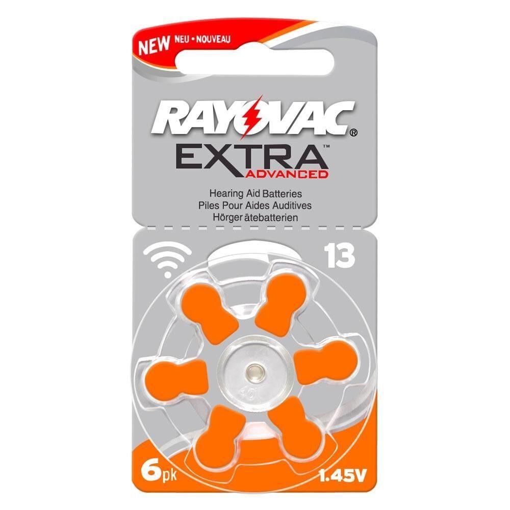 ซื้อ Rayovac ถ่านเครื่องช่วยฟัง ถ่านหูฟังคนแก่ ขนาดA13 Pr48 แพ็ค 6 ก้อน ถ่านอุปกรณ์ช่วยฟังนำเข้ามาตรฐานยุโรป Extra Advanced 1 45V Zinc Air Hearing Aid Battery 6 Pcs ถูก