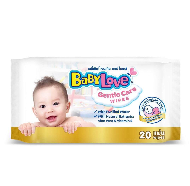 Babylove เจนเทิล แคร์ ไวพส์ ผ้าเช็ดทำความสะอาด (20แผ่น) By Lazada Retail Babylove.
