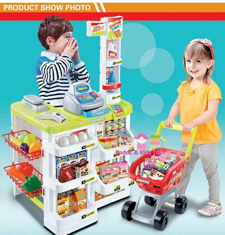 Todds Kids Toys เคาน์เตอร์ซุปเปอร์มาเก็ตของเด็กชุดใหญ่ ของเล่นเสริมพัฒนาการ เพื่อการเรียนรู้ ในการซื้อขาย ช้อปปิ้ง By Todds & Kids Toys.