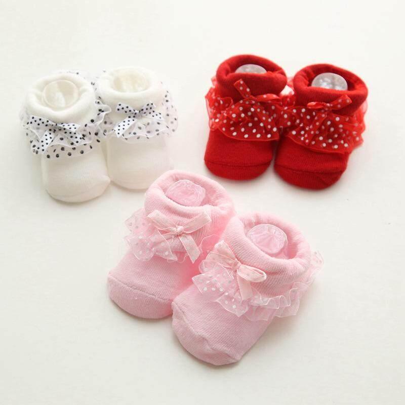 ถุงเท้าเด็กแรกเกิด ถุงเท้าเด็ก ลายน่ารัก เซ็ท 3 คู่.