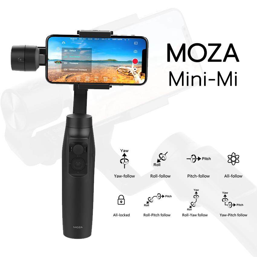 ไม้กันสั่น Moza Mini-Mi Smartphone Gimbal Stabilizer - กันสั่น 3 แกน , รองรับการใช้งาน Wireless Phone Charging .