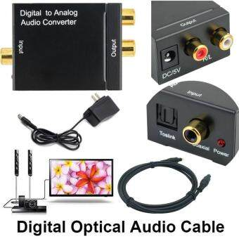 การเปรียบเทียบราคา Digital Optical Coaxial Signal to Analog Audio Converter Adapter RCA (Free optical cable 2m ) find price - มีเพียง ฿292.47