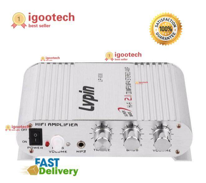 Igootech Lvpin Lp - 838 Automobile Channel Amplifier Stereo Subwoofer Audio Accessory By Igootech.