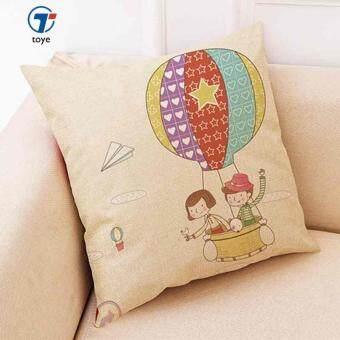 การส่งเสริม Hot Air Balloon Pillow Linen Cushion Decorative Pillows Christmas Decor Throw Pillow For Home 45*45cm Almofada Cojines Decor ซื้อที่ไหน ...