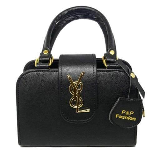 ขาย ซื้อ P P Fashion Women Bag กระเป๋าถือแฟชั่นพร้อมสะพายข้างขายดี สีดำ ใน กรุงเทพมหานคร