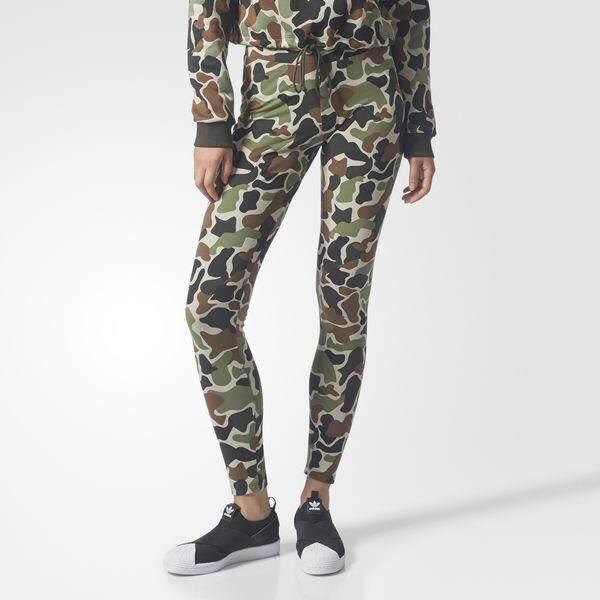 ขายดีมาก! Adidas กางเกงเลกกิ้ง ออกกำลังกาย ผู้หญิง อาดิดาส Camo Leggings Trousers ของแท้ 100% ส่งไวด้วย kerry!!!