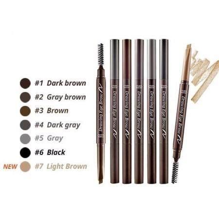 Etude House Drawing Eye Brow (ของแท้)ดินสอเขียนคิ้วเนื้อครีมแบบออโต้พร้อมแปรงปัดในตัว By Nunidshop.