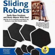 Sliding Robots แผ่นเคลื่อนย้ายเฟอร์นิเจอร์มหัศจรรย์ ใช้ย้ายอุปกรณ์ ย้ายเฟอร์นิเจอร์ ได้อย่างง่ายดาย รวดเร็ว เพียงวางแผ่น Sliding Robots ไว้ภายใต้อุปกรณ์ขนาดใหญ่ (1 ชุด มี 8 ชิ้น)
