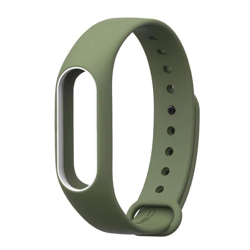 Xiaomi สายรัดข้อมือ Wristband Strap for Xiaomi Mi Band 2 (ฺNavy Green White)