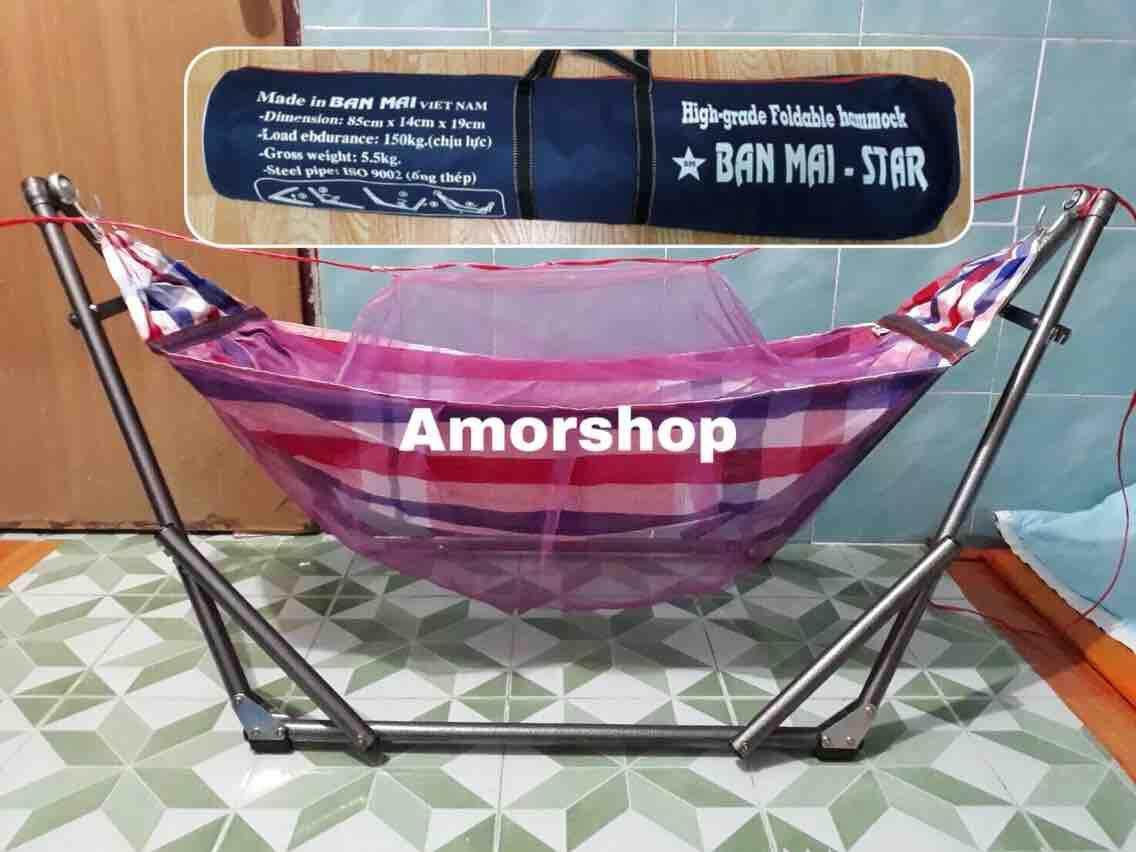 เปลเด็กมีมุ้งเย็บติดผ้าเปลมุ้ง ได้ทั้งชุด คละสีให้ค่ะ By Amorshop.